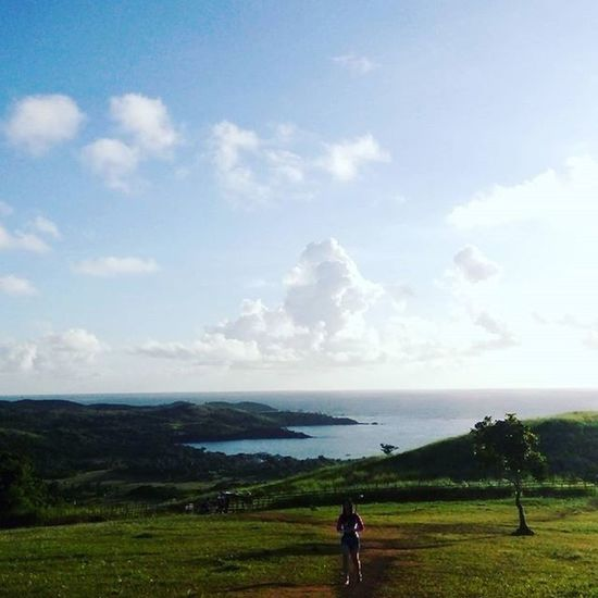 If you think you've seen the best of the country's beaches, wait 'til you get to Mahabang Buhangin. Nature Calaguas2016 Calaguasisland Friendstime Mountaintop Green Sea Trek Loveit Summertime Summer Philippines