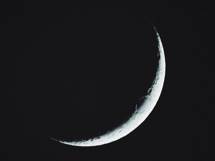 The Moon Night Sky Space Astronomy Crescent Moon Surface First Eyeem Photo