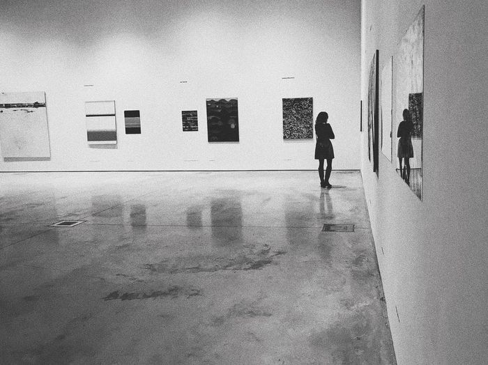 Art Blackandwhite Art Full Length Walking Architecture Built Structure One Person Indoors  Women Real People Museum Lifestyles People Painted Image