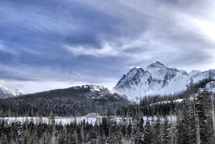 Magnificent view from up here Mountain Snow Beauty In Nature Nature Sky Scenics Cold Temperature Tranquility Tranquil Scene No People Cloud - Sky Outdoors Landscape Winter Tree Day Mountain Range