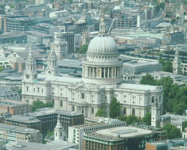St Pauls taken from the top of the Shard The Shard St Pauls Cathedral