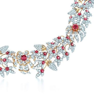 Legendary Tiffany&Co.Jewelry Jean Schlumberger® Design . Conique Necklace with red Spinels and Diamonds in 18k gold and Platinum . Tiffany @tiffanyandcoJewelrygram Jewellery Mücevher Jewelleryaddict LuxuryJewelry Luxury LussoStyle Instafashion Fashioninsta Diamond Spinel Highjewellery