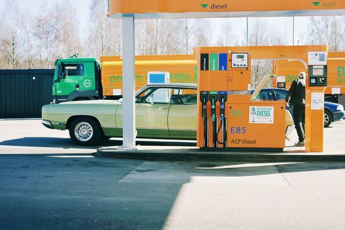 Vintage Cars Gasstation Retro Car VSCO Cam