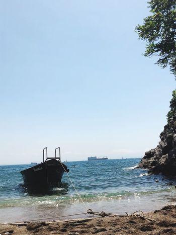 Leave me here Paradise Salerno Italy Cetara Amalfi Coast Costiera Amalfitana Boat Summertime Sun Summer Seaside Sea And Sky Sky Water Sea Clear Sky Scenics - Nature Beach Nature Tranquility Horizon Horizon Over Water Day