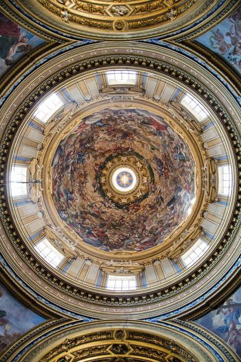 Dome Architecture Ceiling Indoors  Built Structure Pattern Dome No People Low Angle View Directly Below Art And Craft Design Building Geometric Shape Circle Religion Shape Decoration History The Architect - 2018 EyeEm Awards