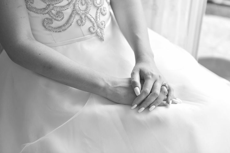 Close-Up Of Bride's Hands