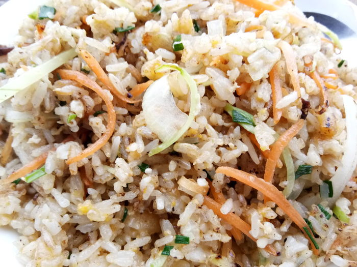 fried rice Rice Spring Onion Carrot Egg Vegetable Meal Food And Drink Food Ready-to-eat Freshness Close-up Healthy Eating Serving Size Indoors  Gourmet Cooked No People Plate Day