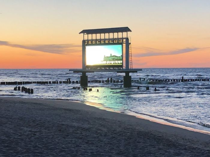 Humans Video Wall Werbung Commercial Water Sea Sky Sunset Beach Horizon Over Water Land Capture Tomorrow
