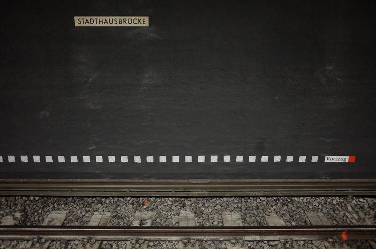 The Graphic City Graphic Composition No People Public Transportation Railroad Station Platform Railroad Track Text Transportation