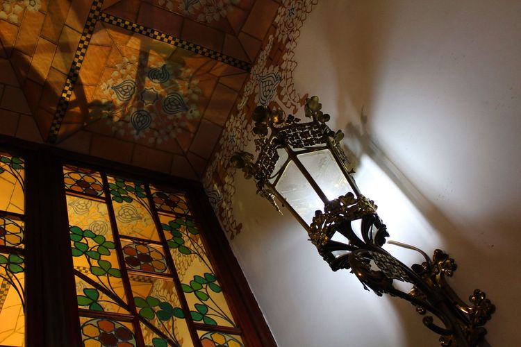 Architecture Museum Barcelona Catalunya Day History Indoors  Modernisme No People Eixample Travel Destinations Low Angle View Arts Culture And Entertainment Built Structure Indoors  Ornate Steps Raconets Modernism Art Culture Glass Light