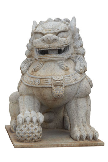 Lion statue in