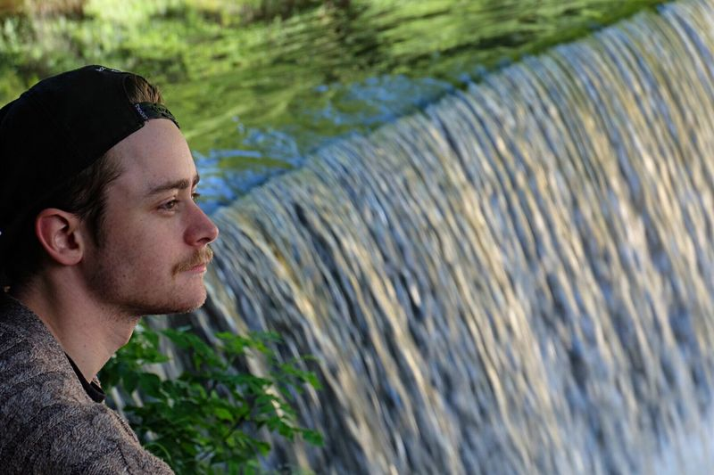 One Person Water Young Adult Leisure Activity Real People Young Men Side View Mid Adult Headshot Day Adventure Lifestyles Outdoors Nature Men One Man Only Adults Only EyeEm Best Shots People Waterfront Waterfall EyeEm Selects EyeEmNewHere EyeEm Gallery Breathing Space Been There. The Still Life Photographer - 2018 EyeEm Awards The Great Outdoors - 2018 EyeEm Awards