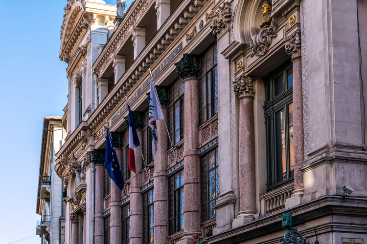 Architecture Building Exterior City Day Flags France Low Angle View Nice France Nissa La Bella  No People Operahouse Outdoors