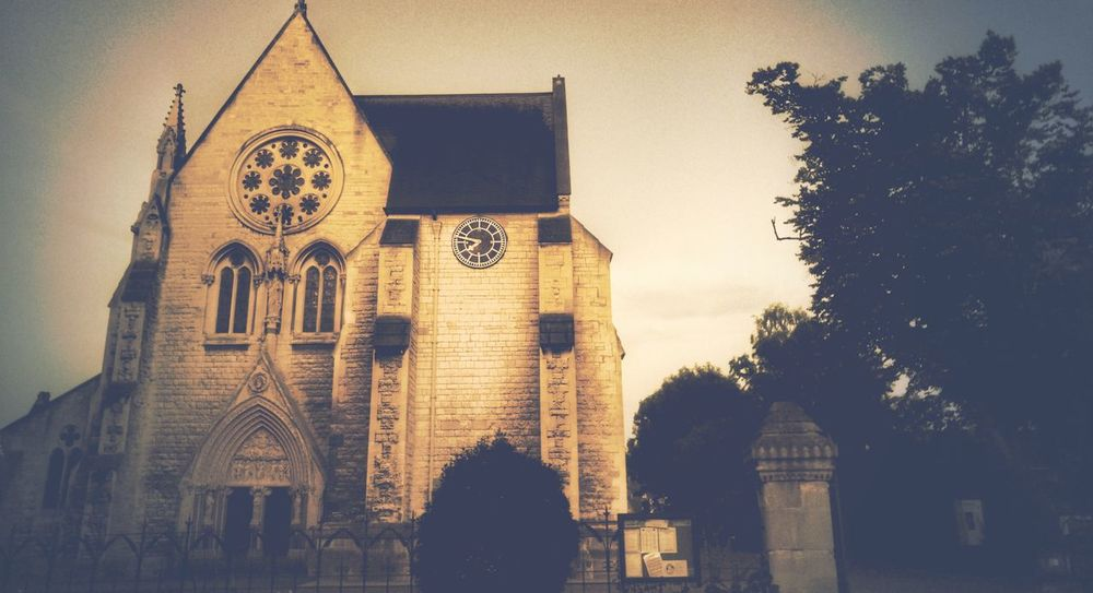Take Me To Church Tree Low Angle View Architecture Sky Outdoors Day Cloud - Sky History High Section No People Creativity