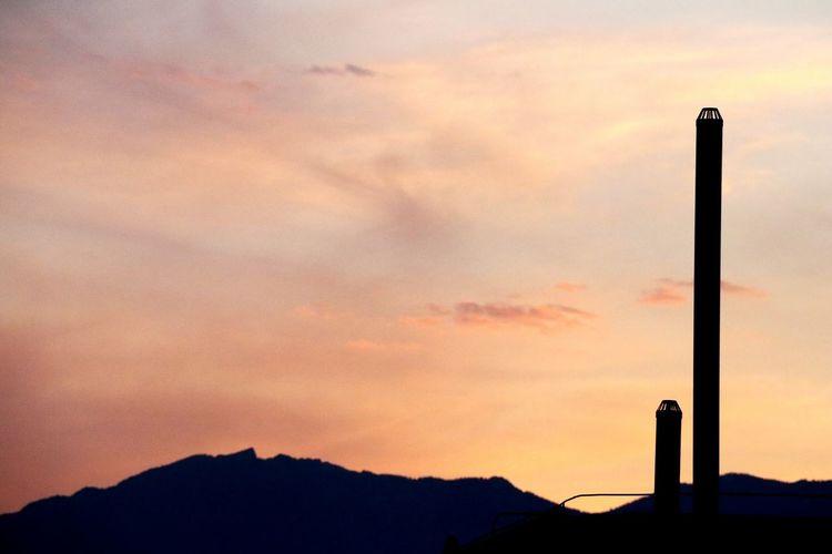Photography Themes Sunset Mountain Silhouette Dusk Orange Color Sky
