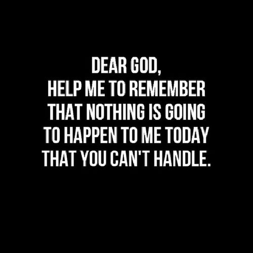 Another week full of challenges. Lord, be with me. Prayer YouAlone