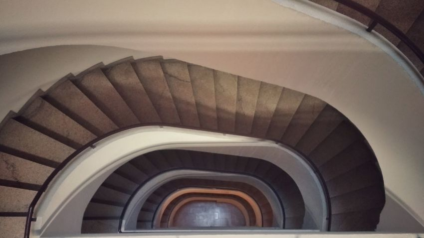 film set Film Eye Em Staircase Spiral Steps And Staircases Steps Architecture High Angle View Design Curve Spiral Staircase Day No People