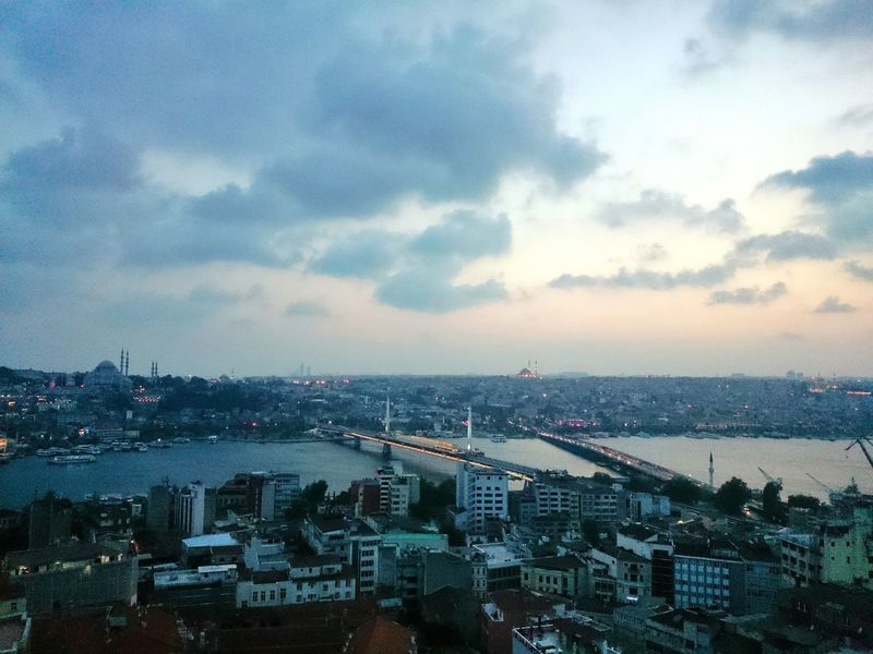 Snapseed Editing  Galata Tower Evening Evening Sky Bridge Cityscape Taking Photos Check This Out Sony Xperia Z2 Android