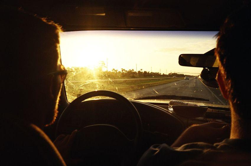 Car Interior Driving Film Photography Filmisnotdead Golden Hour Journey Leisure Activity Lens Flare Lifestyles Liveauthentic Livefolk On The Road Roadtrip Steering Wheel Sun Sunbeam Sunlight Sunset USA Vehicle Interior Windshield