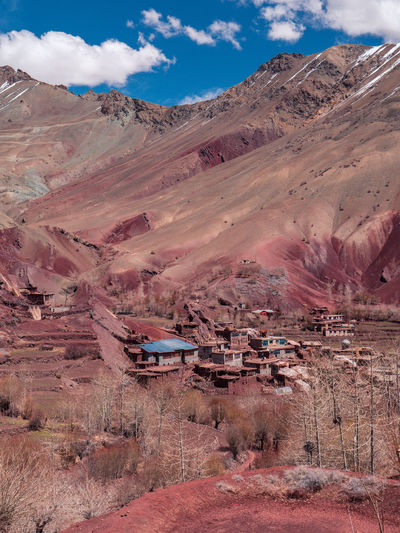 Ladakh Architecture Arid Climate Beauty In Nature Building Exterior Built Structure Climate Cloud - Sky Day Environment Formation Geology Land Landscape Mountain Mountain Range Nature No People Non-urban Scene Outdoors Physical Geography Scenics - Nature Sky Tranquil Scene Tranquility