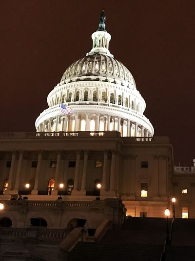 The Capitol building Dome Architecture Government Travel Destinations Illuminated Night