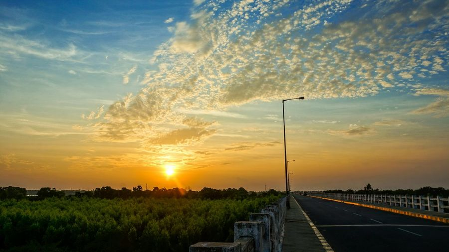 Highway Flyover Riverside Sunset Coloursoflife Greenblue Sky Nature Incredible India Indian