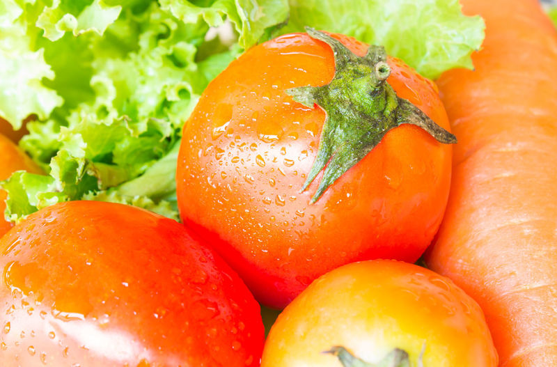 Tomato and Carrot and Salad Carot Green Color Leafs Plant Vegetarian Vegetarian Food Carotene Carots Carottes Food Food And Drink Freshness Healthy Eating Lectuce Raw Food Ripe Tomato Vegan Vegan Food Veganfood Vegetable Vegetables Vegetarian Food