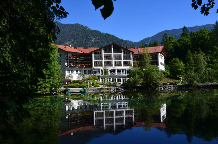 Badersee BestEyeemShots Nikon Architecture Building Exterior Built Structure Clear Sky Day Lake Mountain Nature No People Outdoors Reflection Sky Tree Water Waterfront