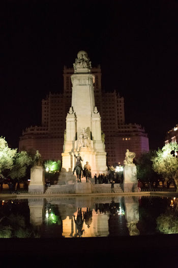 Evening Nikon Literature DonQuixote Politics And Government City Water Illuminated Reflecting Pool Politics Reflection Sky Architecture Building Exterior Memorial Civilization Monument Historic