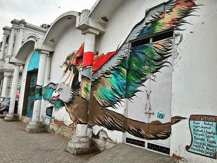 Eagle and the witch.👅 Graffiti Artattack Wallpanting