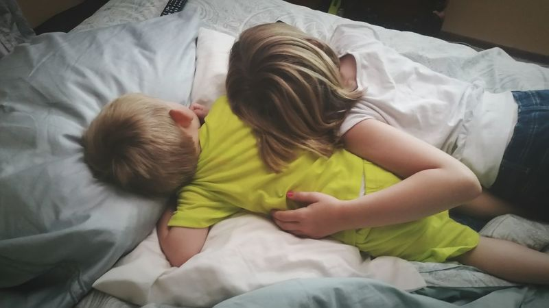 Post nap tv time. Siblings Sibling Love Nap Naptime NaptimeStruggles Cuddle Cuddling Cuteness Cuteness Overload Napping Watching Tv Laying Down Relaxing Leisure Activity Relaxing Moments Tenderness Tender Moments Sweet