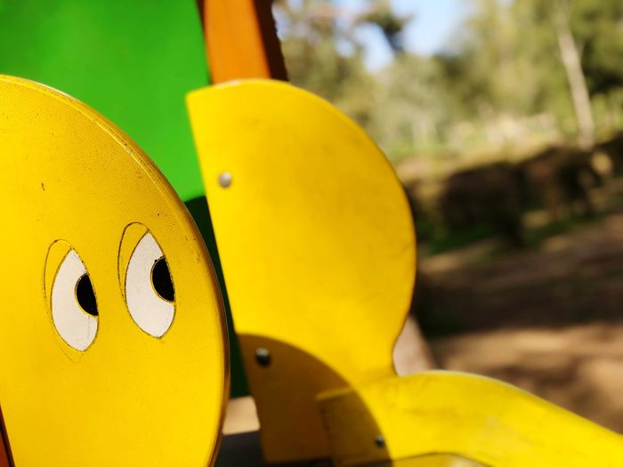 Art Is Everywhere Toys Art Beauty EyeEm Is Everywhere EyeEm Eyes Green Yellow Close-up Day Focus On Foreground Outdoors No People