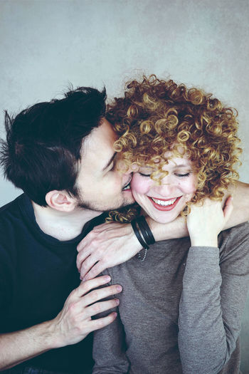 Adult Bonding Couple - Relationship Emotion Females Hair Hairstyle Happiness Lifestyles Love Men Mid Adult Women Portrait Positive Emotion Real People Smiling Togetherness Women Young Adult Young Women