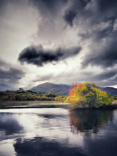 Lough Leane @ Ross Castle Killarney  Ireland Reflection Nature Beauty In Nature Landscape Landscapes Lake Scenics Dramatic Sky Outdoors Travel Destinations Sky Autumn Autumn Colours Tranquility EyeEm Nature Lover Lough Lough Leane Lake View Reflection Lake