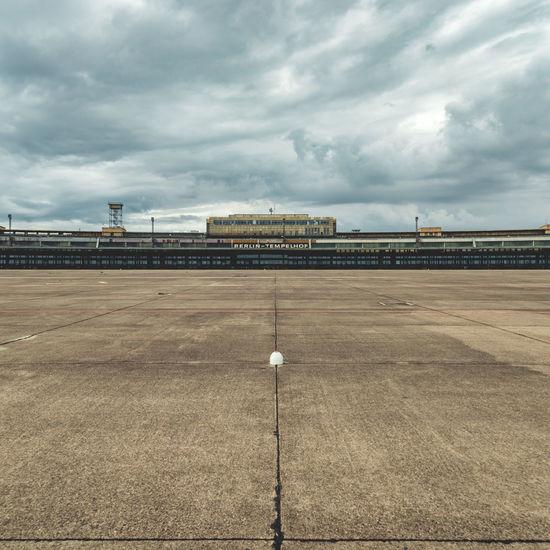 View of empty airport runway