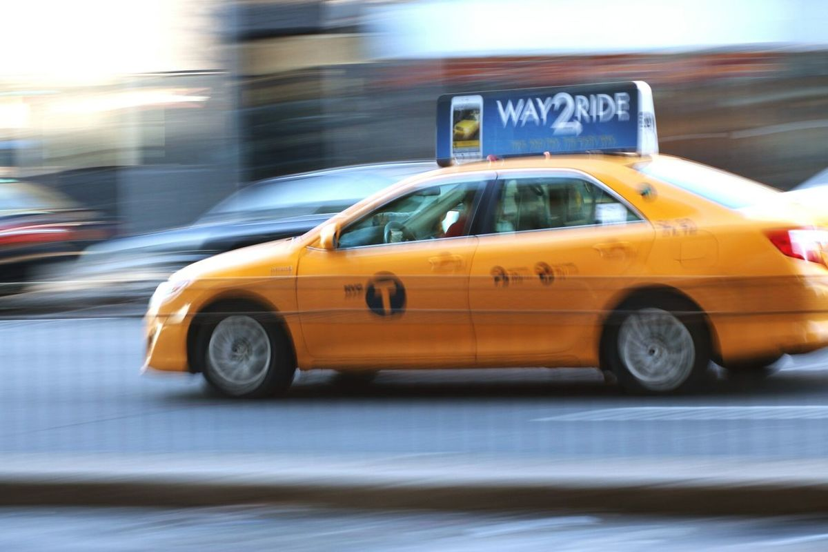 Taxicabs New York City Yellowcabs Queens Panning Panningphotography