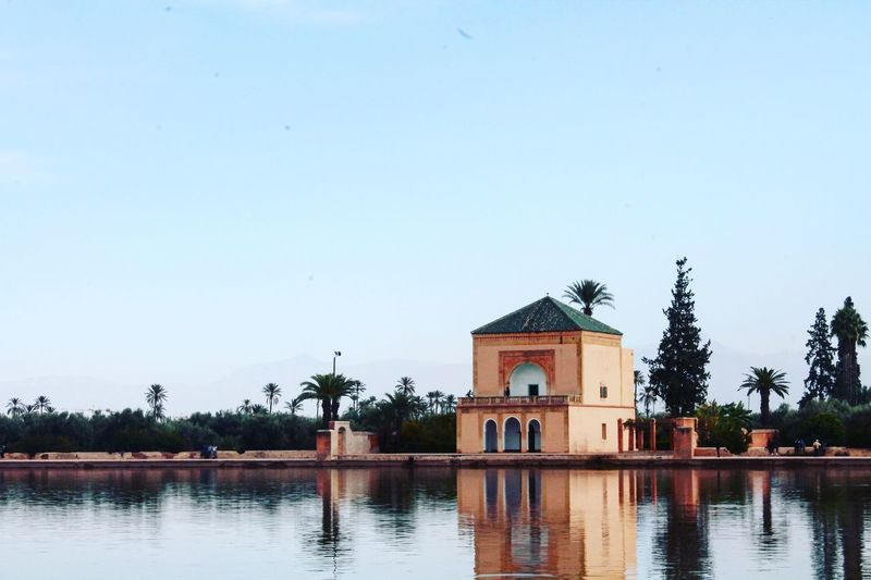 Water Reflection Sky Tranquility No People Day Clear Sky Morocco 🇲🇦 Marrakech Red City