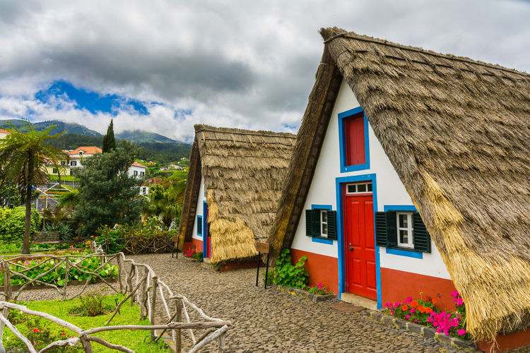 Traditional house in Santana, Madeira, Portugal Madeira Madeira Island Must See Portugal Red Santana Tourist Attraction  House Island Landmark Tourism Town Traditional Triangle Triangular
