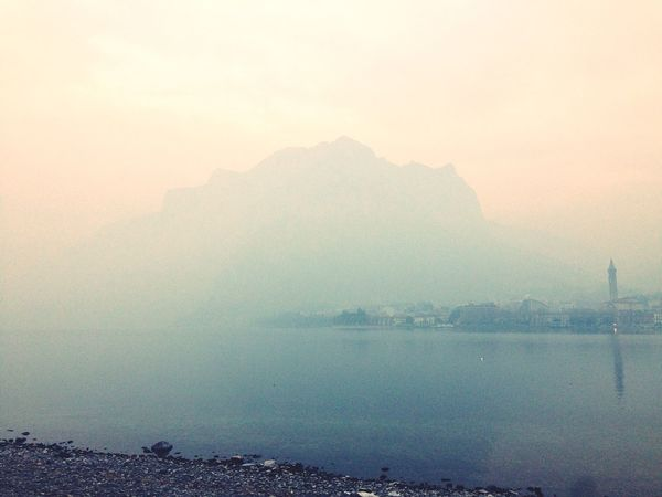 Como lake - Fog Nature Mist Scenics Beauty In Nature Tranquil Scene Water Tranquility Mountain Hazy  No People Lake Outdoors Landscape Day Sky Lake View Lake Foggy Foggy Day Neighborhood Map
