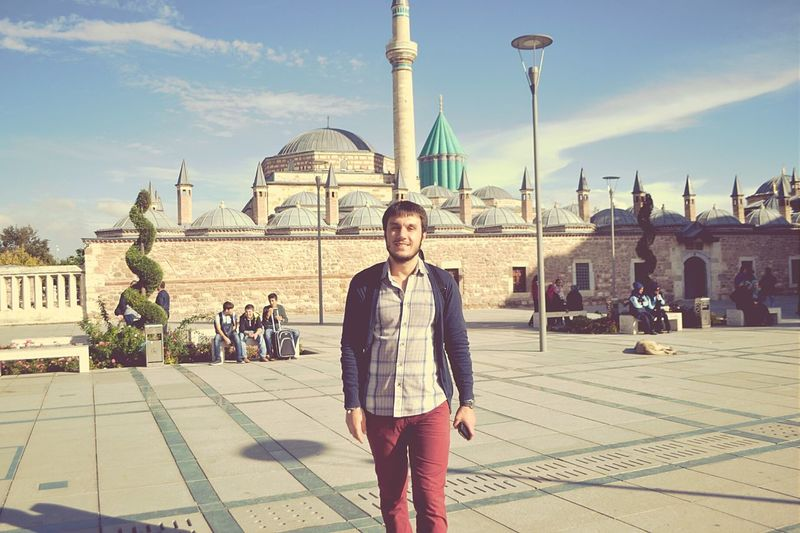 Amazing View Greatphoto Nice Atmosphere Historical Building Mevlana Mosque Konya Visiting Enjoying Life