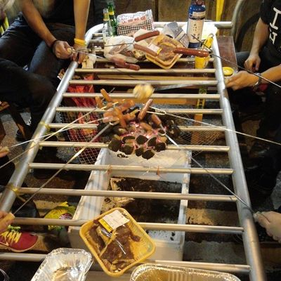 Farewell barbecue Hkig 2014 Yellowribbon Umbrellarevolution universalsuffrage selfstudycorner 遮打自修室 黃絲帶 雨傘革命 真普選 我要真普選 公民廣場 抗命不認命 barbecue bbq 燒烤