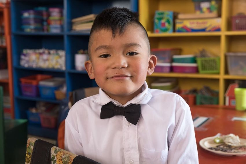 Susanna Wesley school part of the Project Salud y Paz giving quality education to Guatemalan kids. Photographed on assignment with Photographer without Borders. Storytelling People Guatemala Travel EyeEm Selects Childhood Portrait One Person Child Front View Student Real People Bow Tie Smiling Boys