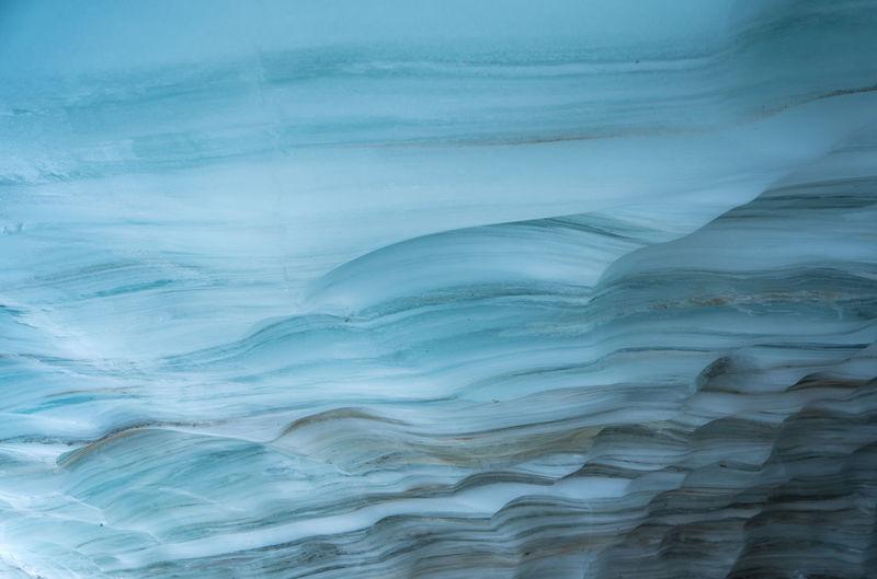 Full frame shot of layered ice