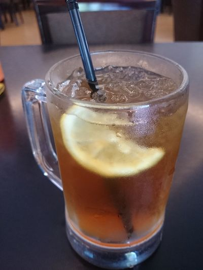 Lemon tea ice Drink Drinking Glass Refreshment Food And Drink Ice Cube No People Close-up Cold Temperature Freshness Indoors  Day Lemontea Iced