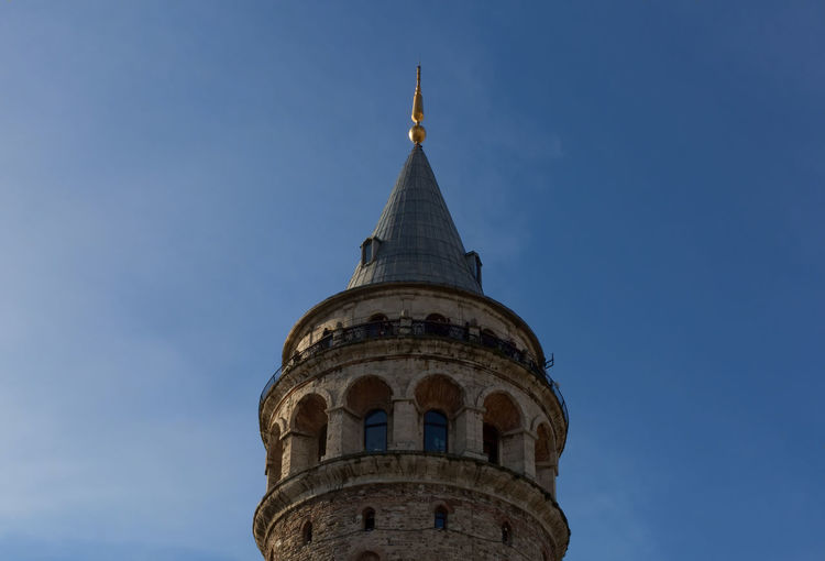 Galata Tower Galata Tower Genoese Fortress Historical Building Historical Monuments Istanbul Ottoman Empire Scenic Lookout Tourist Attraction  Turkey Architecture Building Exterior Built Structure Circular History Medieval Outdoors Sky Stone Stone Tower Tower Travel Destinations Turkish