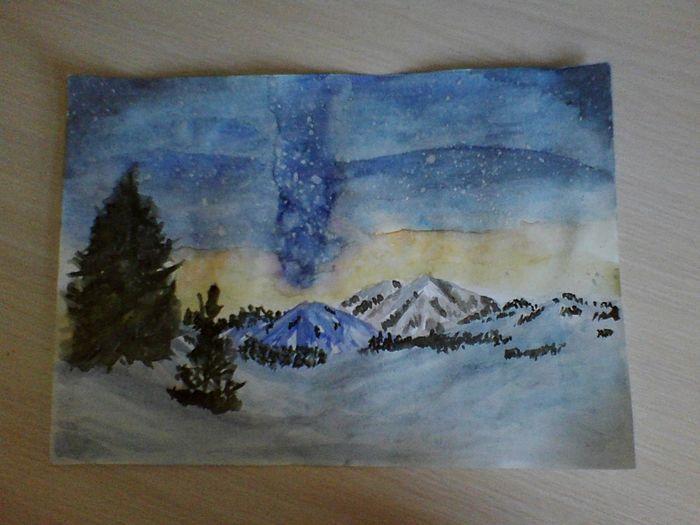 My Home Picture Space Watercolor рисунок акварелью Relaxation вдохновение My Inspiration