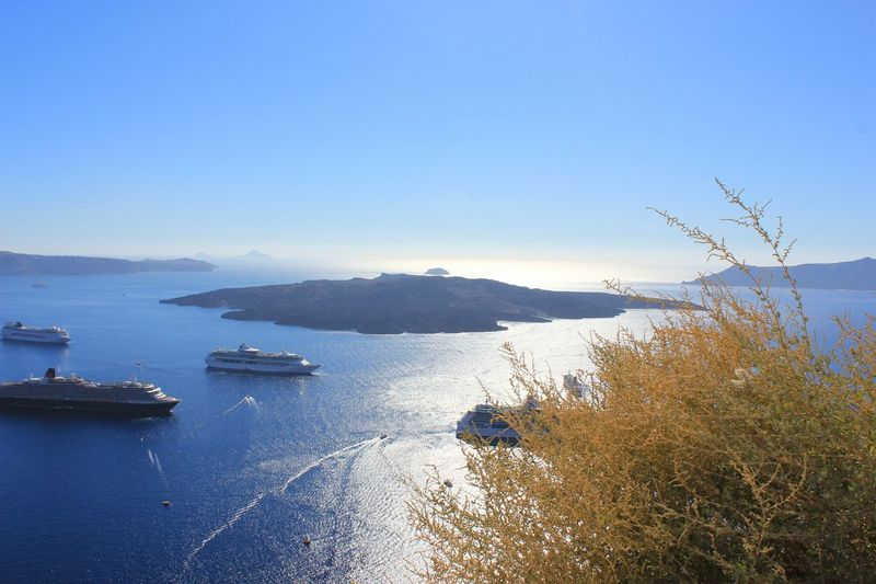 Santorini Greece Vulcano Island Sea Water Horizontal Nature Horizon Over Water Day No People Outdoors Summer Travel Holidays Grecce Canonphotography