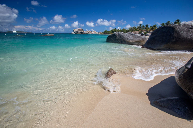 Virgin Gorda Beach Beauty In Nature Blue Bvi Cloud - Sky Day Horizon Over Water Low Section Nature One Person Outdoors People Real People Rocks Sand Scenics Sea Sky Spring Bay Tranquility Water