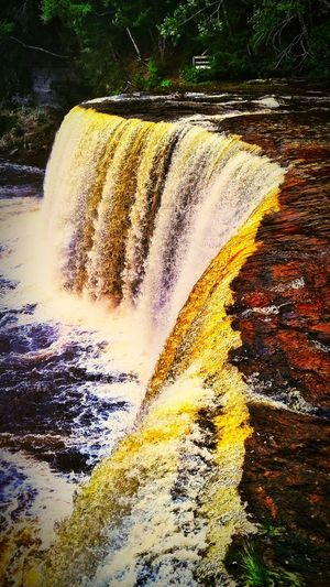 Tahqamenon Falls State Park Michigan Upper Peninsula Tahquamenon Falls Waterfall
