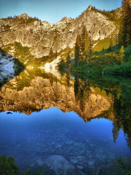 Big bear lake. Trinity alps